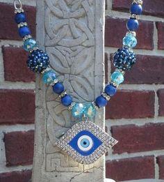 Evil Eye Nazur Bonguku Protection Necklace HANDCRAFTED Wicca Pagan Witchcraft