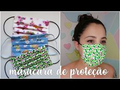 The mask of protection, as do the bia feltz. Costura Diy, Machine Embroidery Applique, Sewing Class, Turbans, Diy Face Mask, Pin Cushions, Holidays And Events, Beautiful Babies, Sunglasses Case