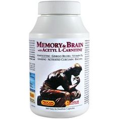 Memory  Brain with Acetyl LCarnitine 60 Capsules *** You can find more details by visiting the image link. (This is an affiliate link)
