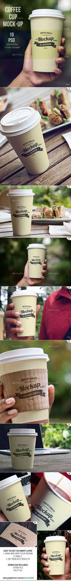 Coffee Cup Mockup - Product Mock-Ups Graphics Mockup Photoshop, Photoshop Design, Coffee Cup Design, Bag Mockup, Mockup Templates, Media Design, Packaging Design, Coffee Cups, Mockup Generator