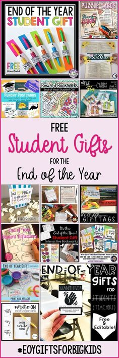 Free End of the Year Gifts for Secondary Students. Check out these fun and FREE student gifts for middle school and high school. (resource round-up at teachnouvelle.com)