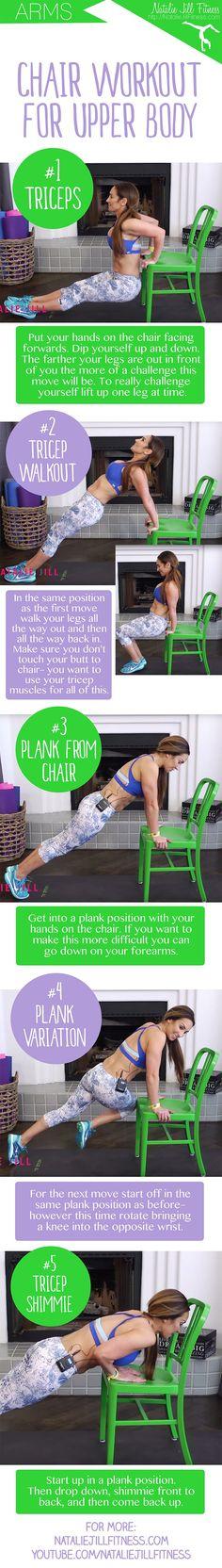 Short Gym Couleur Chair Bath Lift 29 Best Natalie Jill Fitness Programs Images 5 Minute Beginner Workout For Upper Body Video