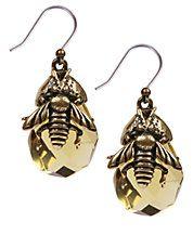 Bee Stone Drop Earrings