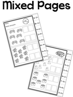 Simple Halloween no prep adding and subtracting.  Simply print and go.  Cut and paste.  No printing required.