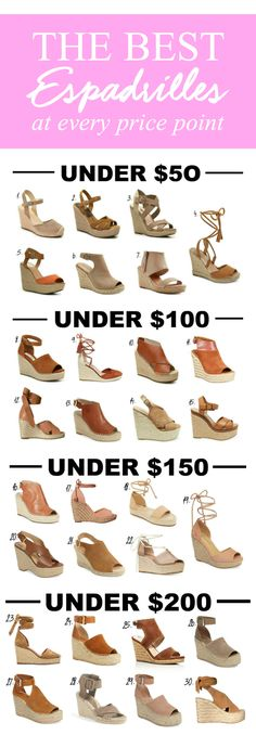 SO MANY GREAT OPTIONS! | Fashion blogger Mash Elle shares a roundup of the best espadrilles at every price point. Brands include Steve Madden, Jessica Simpson, Kenneth Cole, Splendid, Michael Kors, Dahlia, Marc Fisher, COACH and more!
