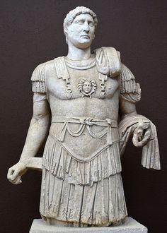 The cuirassed statue of Hadrian from Ancyra's theatre (Ankara, Turkey)