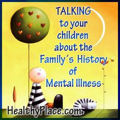 Issues for Parents with Mental Illness. Discover how being a parent with a mental illness affects the capacity to parent and the impact of parental mental illness on children... continue reading: http://www.healthyplace.com/parenting/parents-with-mental-illness/issues-for-parents-with-mental-illness/ -