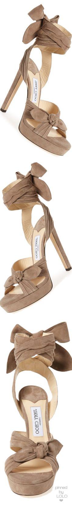 Jimmy Choo 'Vixen' Wraparound Platform Sandal | LOLO❤︎