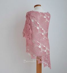 937. Pink crochet shawl | Flickr: Intercambio de fotos