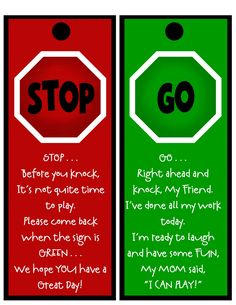 Prepared NOT Scared!: A House of Order . . .Stop and Go Door Sign! Starting our summer off with some ORDER!