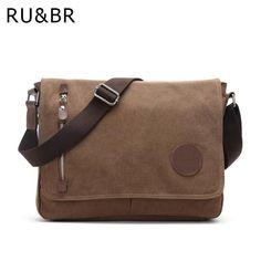 Canvas Casual Men s Shoulder Bag Korean Student Solid Messenger Crossbody  Bags b54218417a
