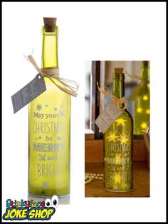Brighten up someone's day with this gorgeous Merry & Bright Starlight Bottle. This is a perfect gift for a special person in your life. Funny Gifts For Her, Merry And Bright, Merry Christmas, Seasons, Bottle, Day, Merry Little Christmas, Happy Merry Christmas, Seasons Of The Year