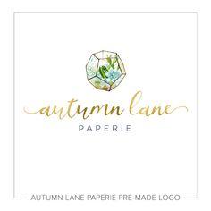 Premade Logo Design Watercolor Circle Logo by AutumnLanePaperie Design Logo, Custom Logo Design, Custom Logos, Graphic Design, Design Web, Brand Design, Slogan, Facebook Header, Watercolor Circles