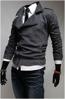 Men's Casual Double Breasted Zipper now only $33.95 (Exp soon!) reg 42.95!