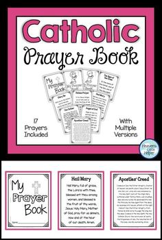 Printable Catholic prayer book for kids. This is a great activity to add Catholic prayers like the Hail Mary, Our Father and Angel of God to your Religious Education. Catholic Schools Week, Catholic Religious Education, Catholic Religion, Catholic Kids, Catholic Crafts, Ccd Activities, Religion Activities, Teaching Religion, Catholic Prayer Book