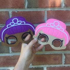Items similar to Princess LOL Felt Masks on Etsy Girls Birthday Party Themes, Girl Birthday, Felt Mask, Summer Camps For Kids, Little Pony Party, Doll Party, Presents For Friends, Lol Dolls, Diy Mask