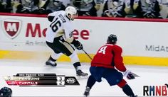 That awkward moment when Sutter got flipped over the boards...