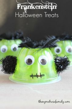 Frankenstein Halloween Treats www.thenymelrosefamily.com #halloween #treats