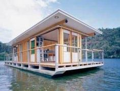 Arkiboat Houseboats – The Owner-Builder Network Pontoon Houseboat, Houseboat Living, Lakefront Property, Tiny House Movement, Water Crafts, Rustic Design, Houseboats, Mansions, House Styles