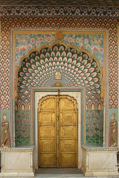 Jaipur City Palace doors (by avinashbhat) India Architecture, Ancient Architecture, Beautiful Architecture, Architecture Design, Gothic Architecture, Indian Doors, Unique Doors, Incredible India, Doorway