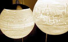 Designer Beth Lewis Williams blends lights, lithopone and landscapes into beautiful 3D printed lights.