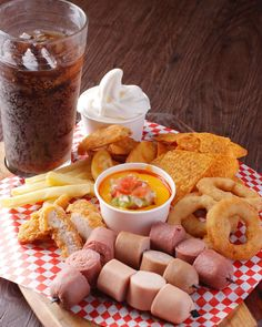Sink your teeth into a serving of Franks' best-selling snacks all in one dish. Each serving comes with a thirst-quenching soda and a scoop… Resorts World Manila, All In One, Soda, Teeth, Snacks, Dishes, Instagram, Beverage, Appetizers