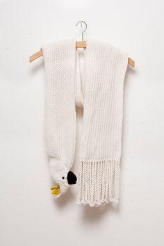 Kakadu Schal Vogel Schal ecru von Ninafuehrer auf Etsy