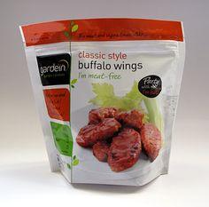 Gardein Classic Style Buffalo Wings Packaging.