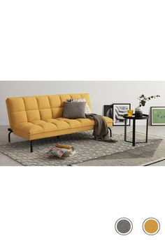 Hallie Sofa Bed, Manhattan Grey with Black Legs Cosy Bed, Yellow Sofa, Bed Linen Design, Comfortable Sofa, House Beds, Bed Styling, Luxury Bedding, Modern Bedding, Home And Living