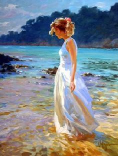 Vladimir Volegov Geheimer Strand - Pinturas al óleo - Dessin Painting People, Woman Painting, Figure Painting, Beach Art, Beautiful Paintings, Oeuvre D'art, Painting Inspiration, Female Art, New Art