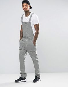Find the best selection of ASOS Overalls In Light Khaki with Biker Styling. Shop today with free delivery and returns (Ts&Cs apply) with ASOS! African Clothing For Men, African Men Fashion, Mens Clothing Styles, Mens Fashion, Fashion Outfits, Fashion Tips, Estilo Hipster, Estilo Retro, Men's Dungarees