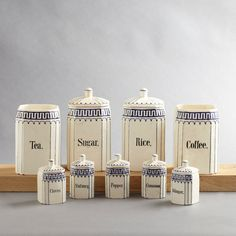 set of 4 vintage kitchen canisters white metal aluminium