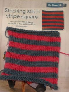Issue 12 - Stocking stitch stripe square