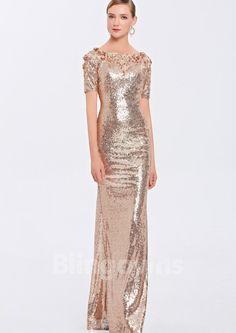 Jewel Tulle Floor Length Zipper Mermaid Sequins Short Sleeves Homecoming / Prom Dresses Mermaid Dresses, Prom, Formal Dresses, Fashion, Senior Prom, Dresses For Formal, Moda, Formal Gowns, Fashion Styles