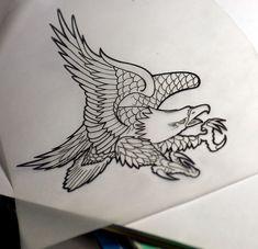 eagle chest piece tattoo | Eagle Tattoo Flash | Flickr - Photo Sharing!