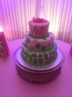 Babyshower cake, monkeys, safari