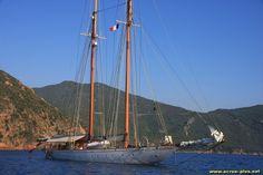 Voilier dans le Golfe de Girolata - Corse