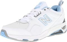 New Balance Womens WX857 Women's Fitness and Cross-Training ShoesTraining ShoeWhiteBlue9 D US >>> Be sure to check out this awesome product.