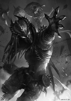 Female Predator Concept Art 3 by MistXG Alien Vs Predator, Predator Alien, Female Yautja, Arte Ninja, Alien Concept Art, Alien Art, Alien Convenant, Sci Fi Art, Fantasy Characters