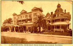 Melrose Hotel on Bunker Hill, Los Angeles, 1910
