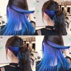 Under Hair Dye, Under Hair Color, Hidden Hair Color, Hair Color Underneath, Hair Color Streaks, Hair Color Purple, Hair Dye Colors, Hair Color For Black Hair, Cool Hair Color