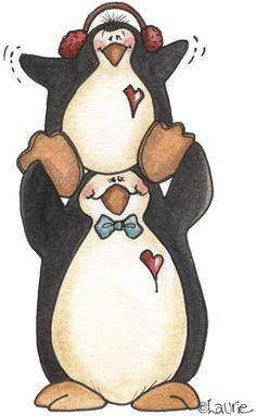 LÁMINAS - Pingüinos - Kekas Scrap - Λευκώματα Iστού Picasa