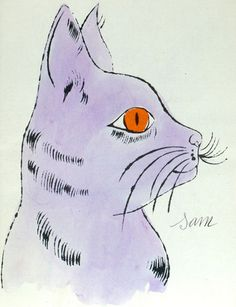 a lavender cat name Sam | Andy Warhol