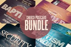 The Church Postcard Bundle caters to any contemporary church sermon, concert, convention or any event that needs a stylistic, modern design. In this package you'll find 4 Photoshop files. All layers in the files are arranged, color coded and simple to edit. Font Links are also provided.