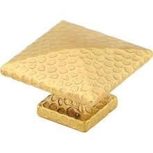 """Emtek 86039US10B Hammered 1-1/4"""" Solid Brass Square Arts & Crafts Cabinet Knob - Oil Rubbed Bronze"""