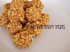 Brown Rice Crispy Treats replace honey with maple syrup for low FODMAP