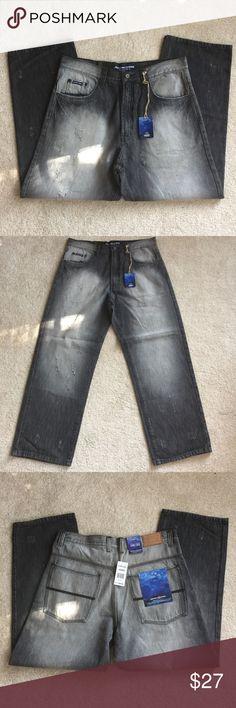 505a6d80b73c Jordan Craig men s black jeans NWT 36 x 30 Jordan Craig men s black  distressed jeans NWT