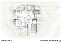 Image 7 of 16 from gallery of South Mountain Community Library / Richärd+Bauer. Second Floor Plan - Courtesy of Richärd+Bauer Library Architecture, Architecture Plan, Library Floor Plan, Public Library Design, Art Central, Community Library, Presentation Layout, Master Plan, Second Floor