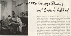 On January 7, 1926, George Burns and Gracie Allen are married.