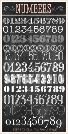 numbers fonts